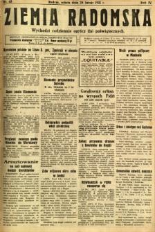 Ziemia Radomska, 1931, R. 4, nr 48