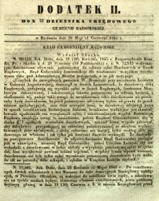 Dziennik Urzędowy Gubernii Radomskiej, 1845, nr 22, dod. II