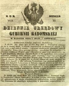 Dziennik Urzędowy Gubernii Radomskiej, 1845, nr 23