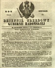 Dziennik Urzędowy Gubernii Radomskiej, 1845, nr 24