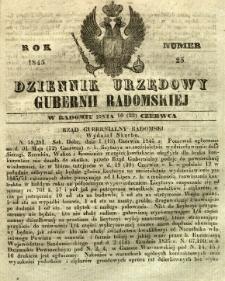 Dziennik Urzędowy Gubernii Radomskiej, 1845, nr 25