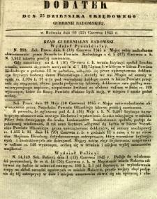 Dziennik Urzędowy Gubernii Radomskiej, 1845, nr 25, dod. I