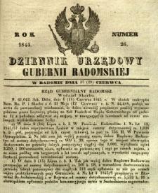 Dziennik Urzędowy Gubernii Radomskiej, 1845, nr 26