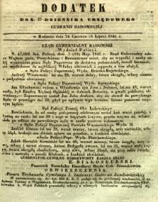 Dziennik Urzędowy Gubernii Radomskiej, 1845, nr 27, dod. I