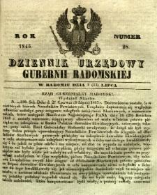 Dziennik Urzędowy Gubernii Radomskiej, 1845, nr 28