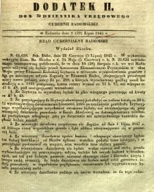Dziennik Urzędowy Gubernii Radomskiej, 1845, nr 29, dod. II