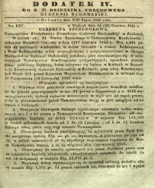 Dziennik Urzędowy Gubernii Radomskiej, 1845, nr 29, dod. IV