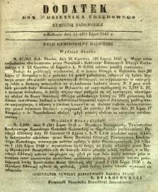 Dziennik Urzędowy Gubernii Radomskiej, 1845, nr 30, dod. I