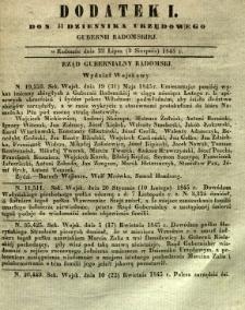 Dziennik Urzędowy Gubernii Radomskiej, 1845, nr 31, dod. I