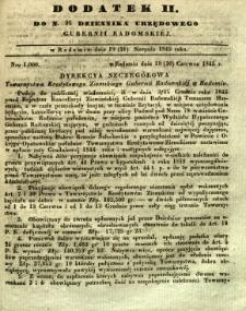 Dziennik Urzędowy Gubernii Radomskiej, 1845, nr 35, dod. II