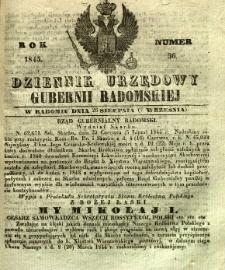 Dziennik Urzędowy Gubernii Radomskiej, 1845, nr 36