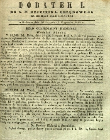 Dziennik Urzędowy Gubernii Radomskiej, 1845, nr 36, dod. I
