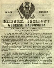 Dziennik Urzędowy Gubernii Radomskiej, 1845, nr 38