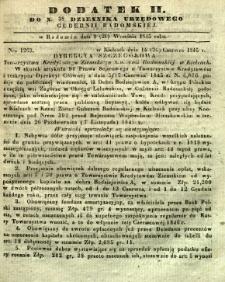 Dziennik Urzędowy Gubernii Radomskiej, 1845, nr 38, dod. II