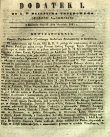 Dziennik Urzędowy Gubernii Radomskiej, 1845, nr 39, dod. I