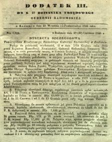 Dziennik Urzędowy Gubernii Radomskiej, 1845, nr 40, dod. III