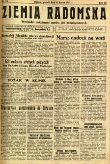 Ziemia Radomska, 1931, R. 4, nr 53