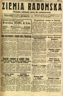 Ziemia Radomska, 1931, R. 4, nr 55