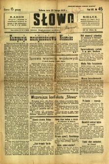 Słowo, 1929, R. 8, nr 45