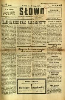 Słowo, 1929, R. 8, nr 46