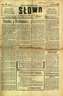 Słowo, 1929, R. 8, nr 59