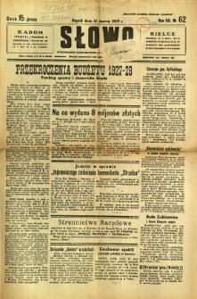 Słowo, 1929, R. 8, nr 62