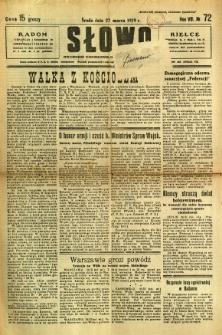 Słowo, 1929, R. 8, nr 72