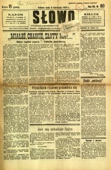 Słowo, 1929, R. 8, nr 80