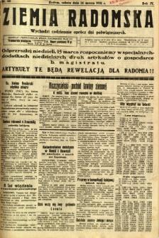 Ziemia Radomska, 1931, R. 4, nr 60