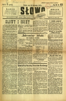Słowo, 1929, R. 8, nr 83