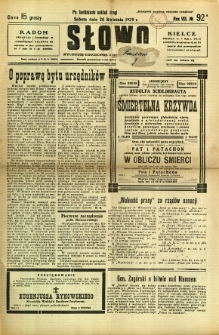 Słowo, 1929, R. 8, nr 92