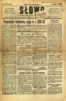Słowo, 1929, R. 8, nr 106
