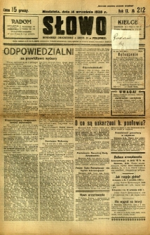 Słowo, 1930. R. 9, nr 212
