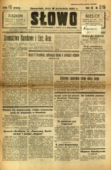 Słowo, 1930. R. 9, nr 215