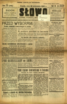Słowo, 1930. R. 9, nr 222