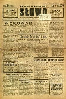Słowo, 1930. R. 9, nr 225