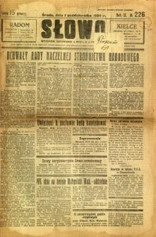 Słowo, 1930. R. 9, nr 226