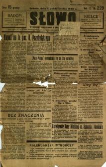 Słowo, 1930. R. 9, nr 229