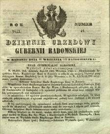 Dziennik Urzędowy Gubernii Radomskiej, 1845, nr 41