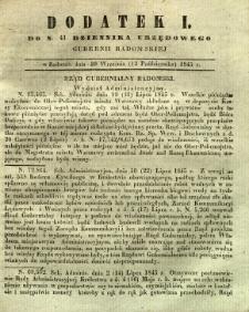 Dziennik Urzędowy Gubernii Radomskiej, 1845, nr 41, dod. I