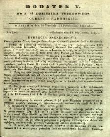 Dziennik Urzędowy Gubernii Radomskiej, 1845, nr 41, dod. V