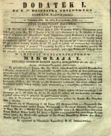 Dziennik Urzędowy Gubernii Radomskiej, 1845, nr 43, dod. I
