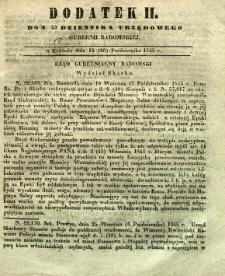 Dziennik Urzędowy Gubernii Radomskiej, 1845, nr 43, dod. II