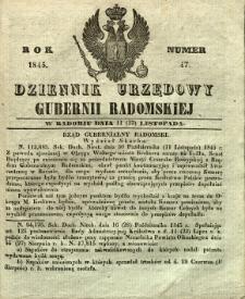 Dziennik Urzędowy Gubernii Radomskiej, 1845, nr 47