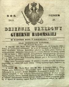Dziennik Urzędowy Gubernii Radomskiej, 1845, nr 49