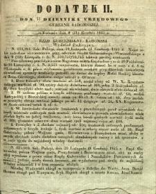 Dziennik Urzędowy Gubernii Radomskiej, 1845, nr 51, dod. II