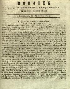 Dziennik Urzędowy Gubernii Radomskiej, 1845, nr 52, dod.