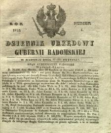 Dziennik Urzędowy Gubernii Radomskiej, 1846, nr 4