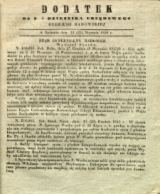 Dziennik Urzędowy Gubernii Radomskiej, 1846, nr 4, dod. II