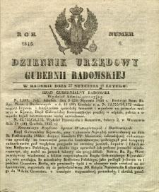 Dziennik Urzędowy Gubernii Radomskiej, 1846, nr 6